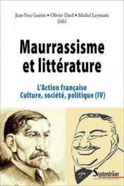 Maurrassisme Et Litterature - Couverture - Format classique