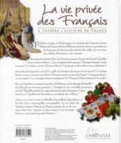 La vie privée des Français à travers l'histoire de France - 4ème de couverture - Format classique