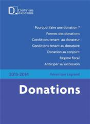 Vente  Donations (édition 2013/2014)  - Veronique Legrand