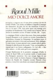 Mio dolce amore - 4ème de couverture - Format classique