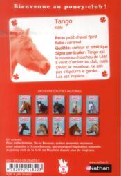 Le club des poneys t.10 ; un cadeau pour Tango - 4ème de couverture - Format classique