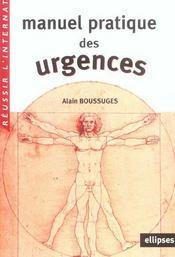 Manuel Pratique Des Urgences - Intérieur - Format classique