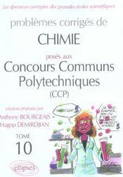 Problèmes corrigés posés aux concours communs polytechniques t.10 - Intérieur - Format classique