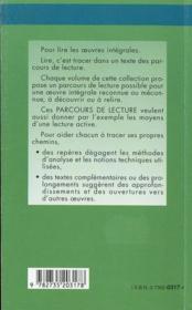 Moderato cantabile, de Marguerite Duras - 4ème de couverture - Format classique