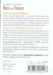 Le Petit Livre ; Rois De France - 4ème de couverture - Format classique