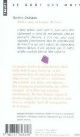 Parlez-vous la langue de bois ; petit traité de manipulation à l'usage des innocents - 4ème de couverture - Format classique