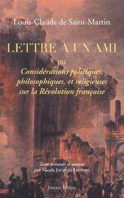 Lettre A Un Ami - Intérieur - Format classique