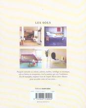 Sols (les) - 4ème de couverture - Format classique