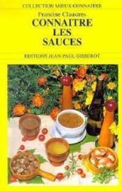 Connaitre les sauces - Couverture - Format classique