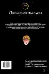 Chroniques barbares t.1 ; la fureur des vikings - 4ème de couverture - Format classique