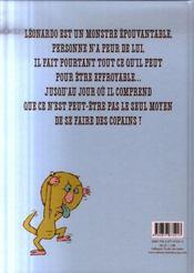 Léonardo le monstre épouvantable - 4ème de couverture - Format classique