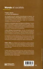 L'attraction mondiale - 4ème de couverture - Format classique