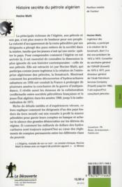 Histoire secrète du pétrole algérien - 4ème de couverture - Format classique