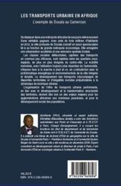 Transports urbains en Afrique ; l'exemple de Douala au Cameroun - 4ème de couverture - Format classique
