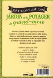 365 trucs et astuces du jardin et du potager de grand-mère - 4ème de couverture - Format classique
