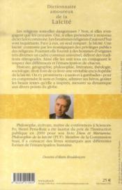 Dictionnaire amoureux de la laïcité - 4ème de couverture - Format classique