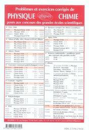 Problemes Corriges De Physique Concours Communs Polytechniques (Ccp) Tome 7 2004-2005 - 4ème de couverture - Format classique