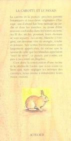 La Carotte Et Le Panais - 4ème de couverture - Format classique
