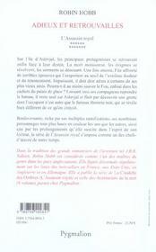 L'Assassin Royal T.13 ; Adieux Et Retrouvailles - 4ème de couverture - Format classique