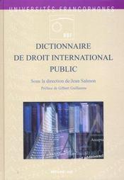 Dictionnaire de droit international public - Intérieur - Format classique