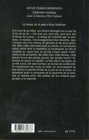 Le Temps De La Peau - 4ème de couverture - Format classique