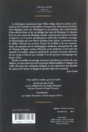 Sorciers Et Leurs Tromperies (Des) - 4ème de couverture - Format classique