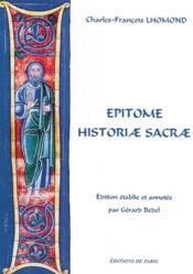 Epitome historiae sacrae - Couverture - Format classique