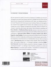 Les Cahiers De La Recherche Architecturale Et Urbaine N.22-23 ; Le Corbusier, L'Atelier Intérieur - 4ème de couverture - Format classique