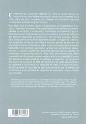 La Transformation Des Villes Et Les Politiques Publiques 1945-2005 - 4ème de couverture - Format classique