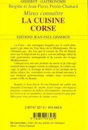 La cuisine corse - 4ème de couverture - Format classique