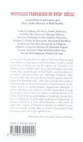 Nouvelles Francaises Du Xviiie Siecle - 4ème de couverture - Format classique