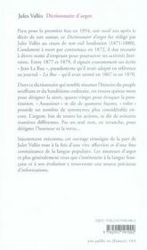 Dictionnaire d'argot - 4ème de couverture - Format classique