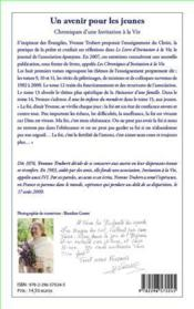Chroniques d'une invitation à la vie t.15 ; un avenir pour les jeunes - 4ème de couverture - Format classique