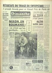 Journal Du Dimanche (Le) N°741 du 29/01/1961 - Couverture - Format classique