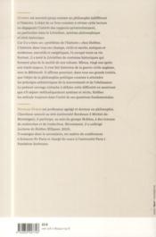 Thomas Hobbes Et L'Histoire - 4ème de couverture - Format classique