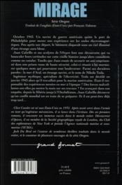 Mirage - 4ème de couverture - Format classique