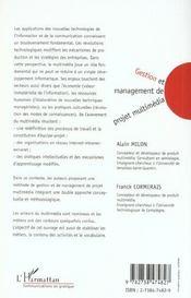 Gestion Et Management De Ojet Multimedia - 4ème de couverture - Format classique