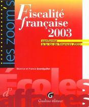 Fiscalite Francaise 2003 - Intérieur - Format classique
