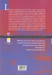 Arts De La Scene Et La Revolution Francaise - 4ème de couverture - Format classique