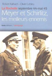 Meyer & Schirlitz, Les Meilleurs Ennemis - Couverture - Format classique