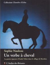 Un verbe à cheval ; la poésie équestre d'André Velter dans le sillage de Bartabas - Intérieur - Format classique