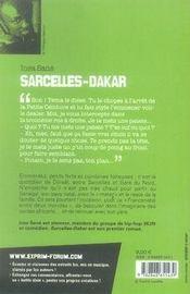 Sarcelles-Dakar - 4ème de couverture - Format classique