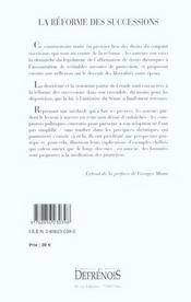 Reforme Des Successions (La) - 4ème de couverture - Format classique