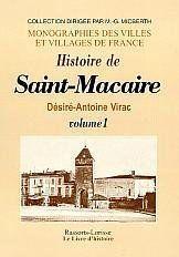 Saint-Macaire (Histoire De) Vol. I - Couverture - Format classique