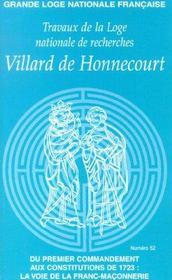Villard de honnecourt n 52 - du premier commandement aux constitutions de 1723.. - Intérieur - Format classique
