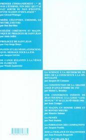 Villard de honnecourt n 52 - du premier commandement aux constitutions de 1723.. - 4ème de couverture - Format classique