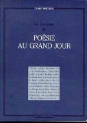 Poesie Au Grand Jour - Couverture - Format classique