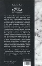 Pierre guyotat, essai biographique - 4ème de couverture - Format classique