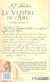 Le ventre de l'arc ; la trilogie loredan t.2 - 4ème de couverture - Format classique