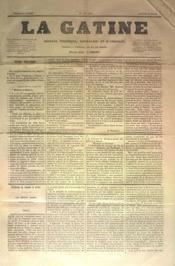 Gatine (La) N°4 du 26/03/1870 - Couverture - Format classique